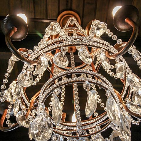 bayhead cut crystal chandelier - interior design