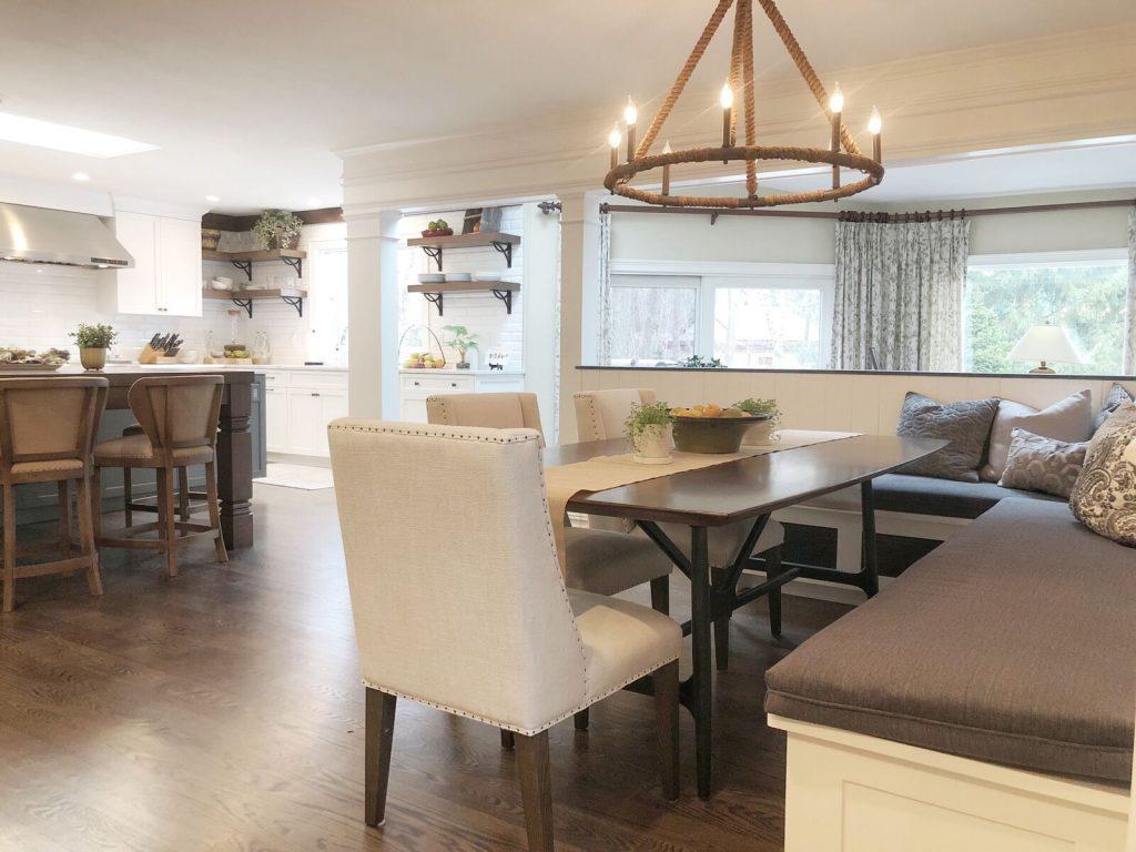 kitchen interior design: chandelier in rumson nj