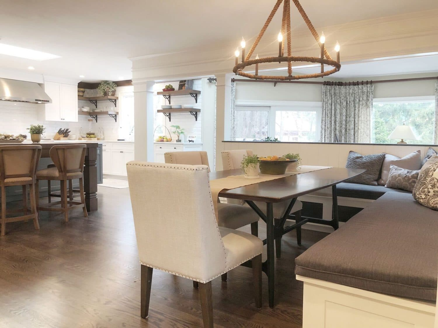 kitchen interior design: chandelier in rumson nj