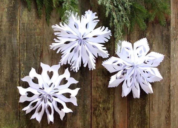 Paper Bag Snowflakes